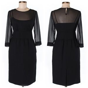Talbots Black Mesh Dress